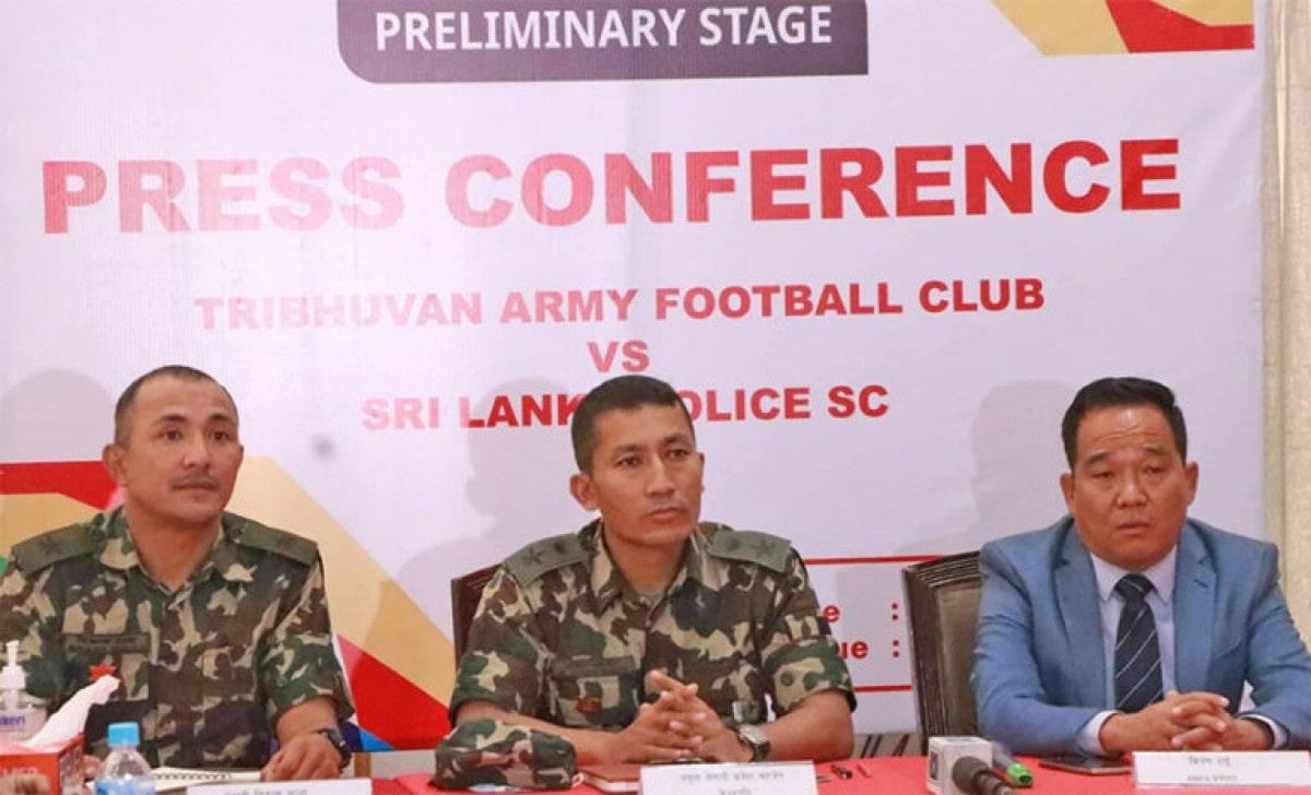 एएफसी कप २०२१ को प्रारम्भिक खेलमा त्रिभुवन आर्मी र श्रीलङ्का पुलीसबीच प्रतिस्पर्धा image